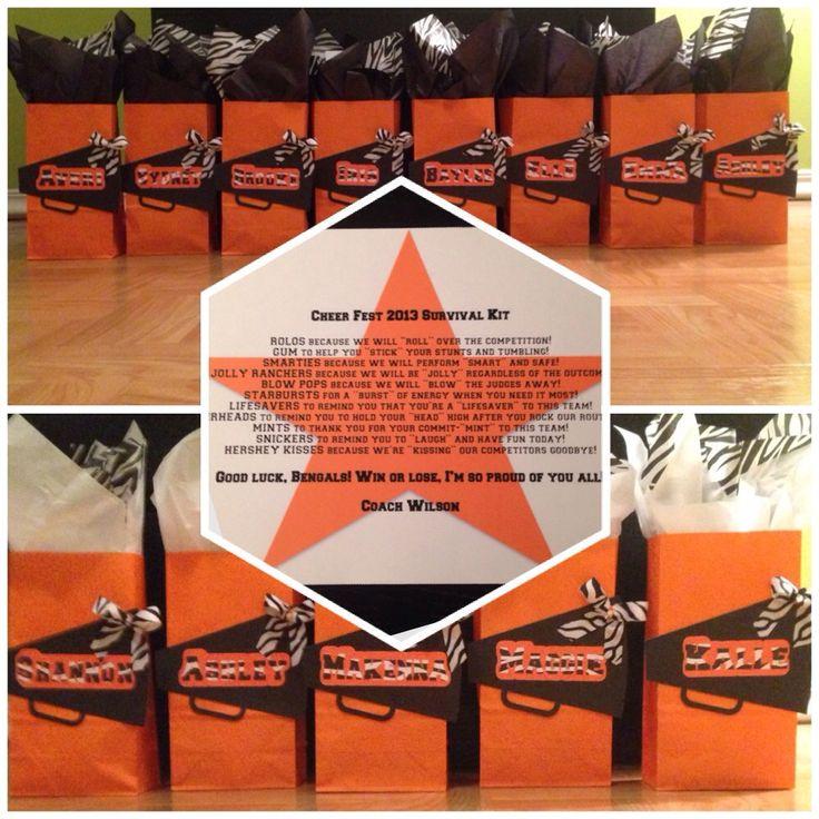 "Cheerleading ""Survival Kit"" Gift Bags!"