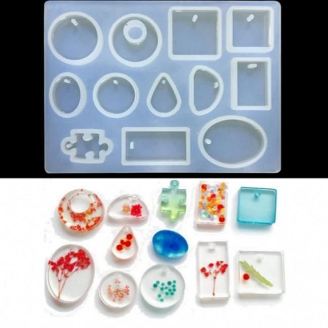 DIY Silicone Pendant Mold Making Jewelry For Resin Necklace Mould Craft Tool^~^