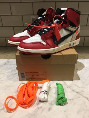 6c1e275d1c7 Details about Nike Air Jordan 1 Off White Chicago Brand New Size 9 ...