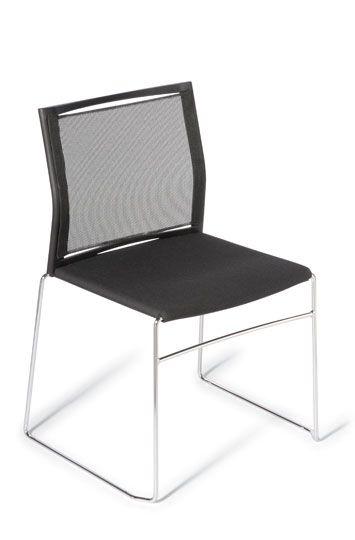 Mesh back web chair