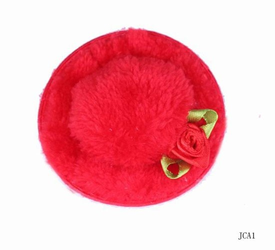 $0.32  Mixed Color Top Mini Hats Hair Clip Flower Napping Headdress For Shows Red #Eozy