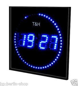 17 meilleures id es propos de horloge num rique sur pinterest tiquettes d 39 horloge - Horloge orium led bleue ...