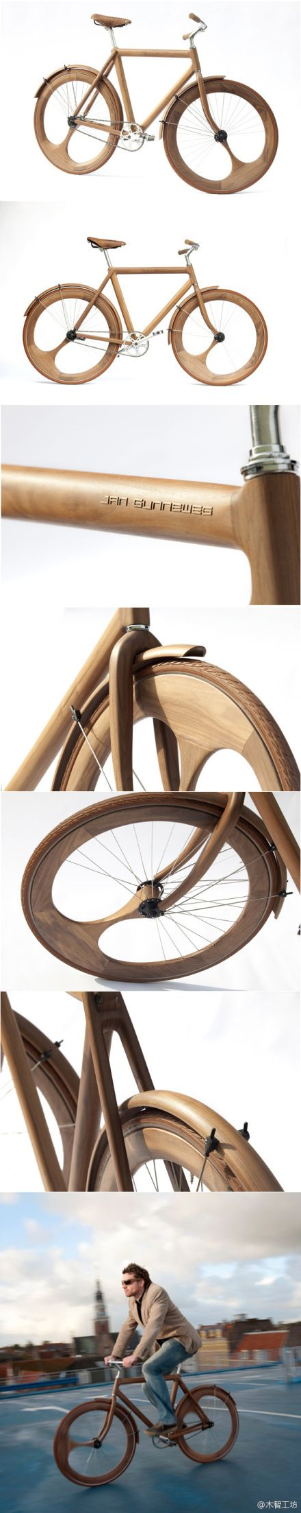 Wooden Bicycle -  Jan Gunneweg.. i think it can go into woodturning Board :) WOODBike