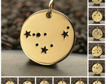 Zodiac Constellation Discs by PoppiesBeadsnMore on Etsy