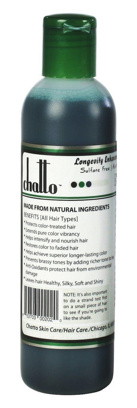 Chatto Longevity Black Royal Enhancement Organic Hair Color Shampoo, 8fl oz >>> Read more at the image link. #hairoftheday