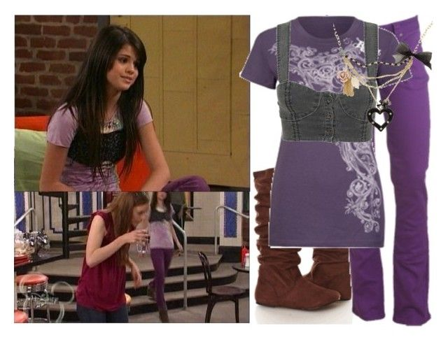 """""""Selena Gomex as Alex Russo"""" by jc10 ❤ liked on Polyvore featuring Disney, Wet Seal, Rip Curl, Alice McCall, alex russo, beware wolf, selena gomez and wizards of waverly place"""
