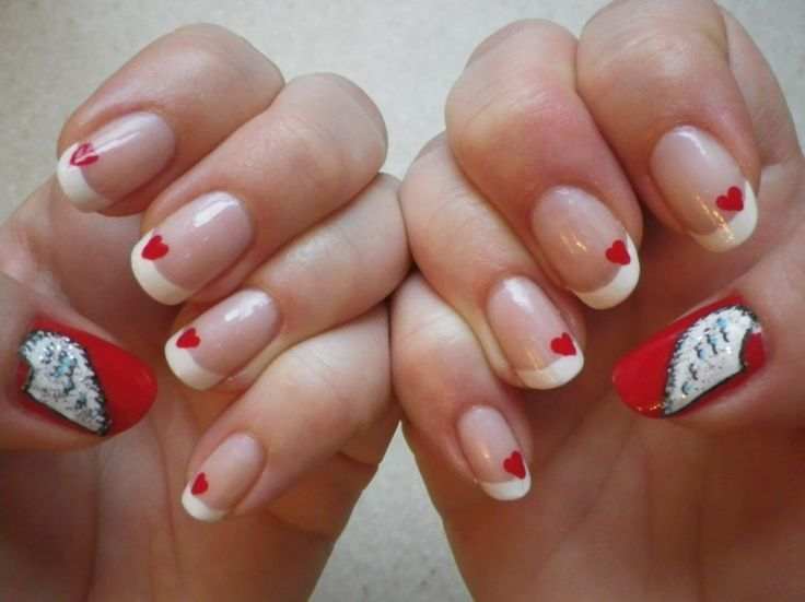 Deco ongles saint valentin - Deco french manucure ...