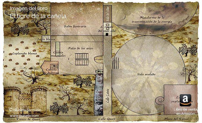 Mapa del otro lado, de ese mundo misterioso al que nos adentra el libro.