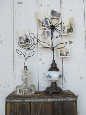 Adorable! Love the use of wire and old lamp parts! You've really got to check out her blog, amazing creations there.