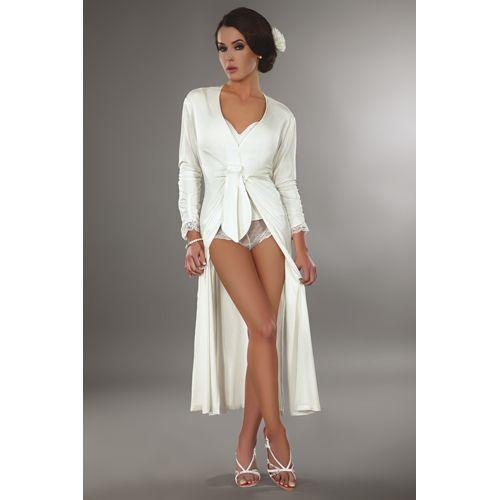 Lange witte Reli kimono. Chique en sexy. #lingerie #lingeriebestellen #kimono #style #fashion #sexy #ladylike