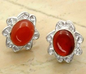 7.00ctw Genuine Carnelian & .925 Sterling Silver Plated Brass Stud Earrings (SJHE0084CRN) #fashionearrings #fancyearrings #silverplatedearrings #platedearrings #brassearrings Buy Now:  http://www.sterlingsilverjewelry.tv/genuine-carnelian-silver-plated-brass-stud-earrings-sjhe0084crn.html