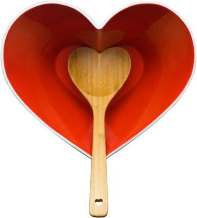 The Kitchen Gift Co - Sagaform Heart bowl with ladle