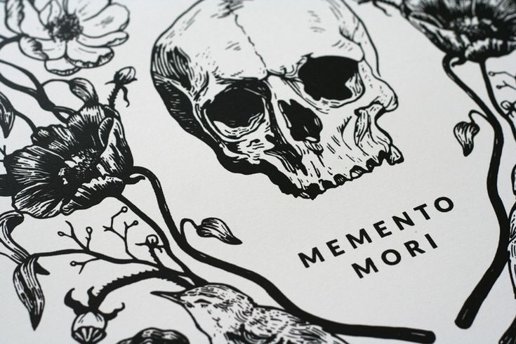 Memento_Mori_poster_C seriously simple, just the skull and lettering.