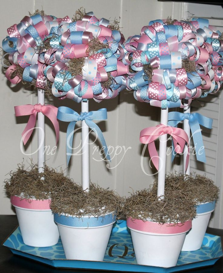 41 best images about gender reveal baby shower on for Baby shower decoration twins