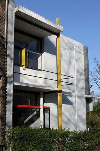 Rietveld Schroder House founded in 1917, is the only building that was designed in complete accordance with the De Stijl style.