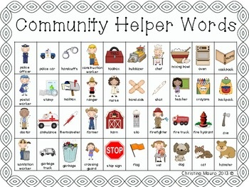 Community Helper - Writing Words