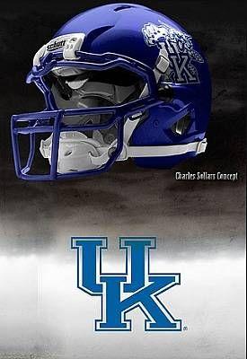 University of Kentucky Wildcats - concept football helmet
