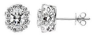 Magnificent Genuine Gemstone Moissanite Earrings at BitCoin Gems