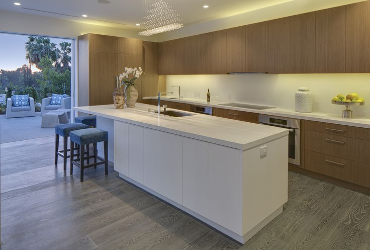 Modern Kitchen at Hillcrest in Trousdale Estates, Beverly Hills By Boswell Construction #buildboswell