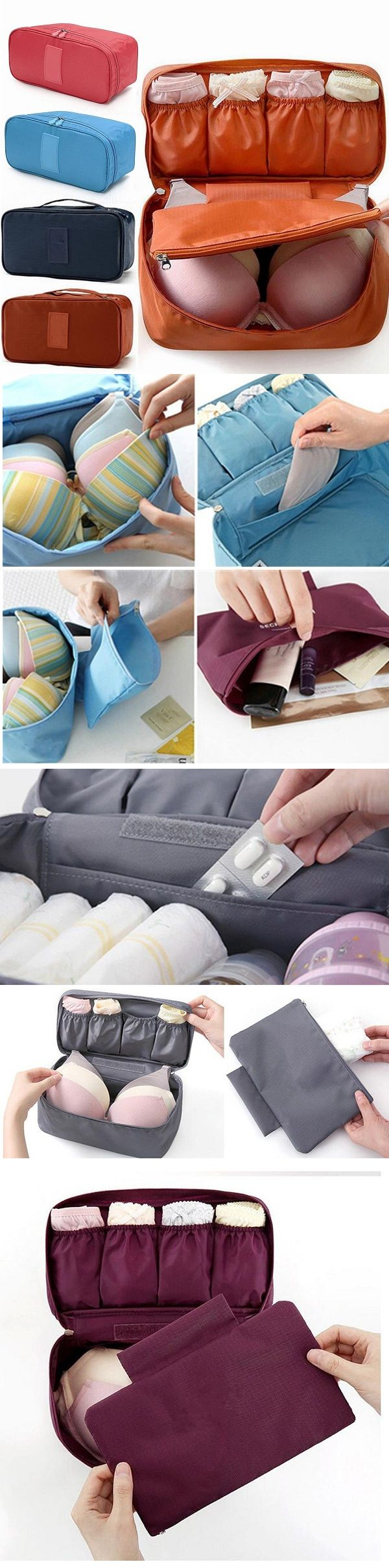US$3.99 Women Multifunction Waterproof Tidy Storage Bag Must-have Wash Cosmetic Bag Portable
