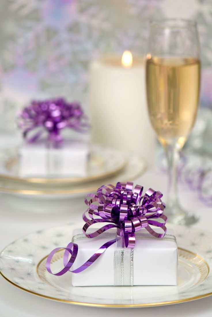Purple table decorations for christmas - Christmas Party Table Decorations Ideas