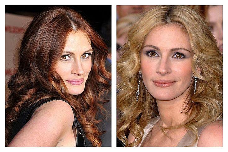 Celebrity a farby - Tmavý typ a blond farba vlasov - Julia Roberts