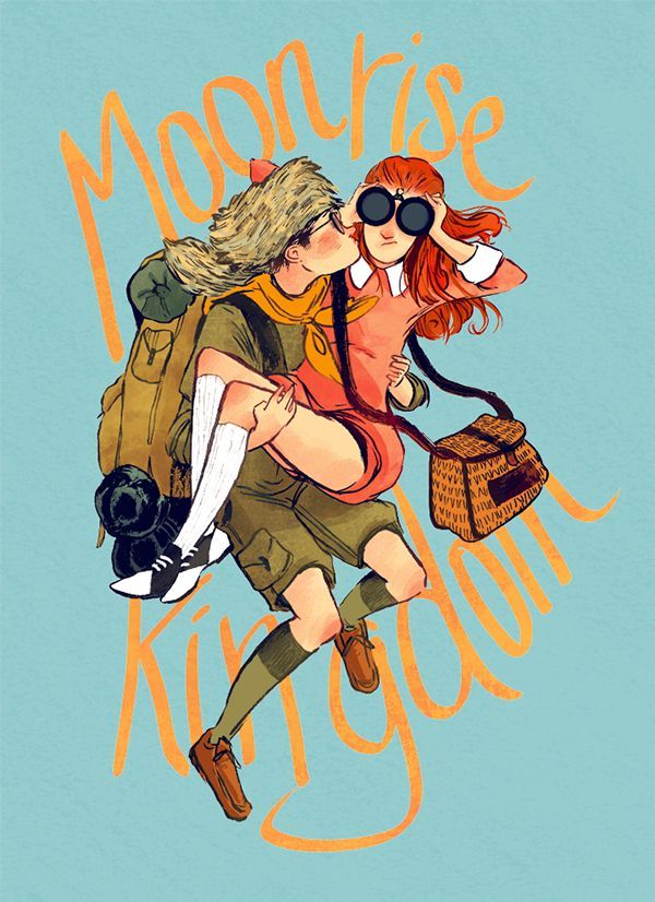 Moonrise Kingdom on Behance by Nuria Tamarit