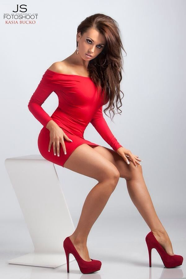 red sexy fucks dress in Girl
