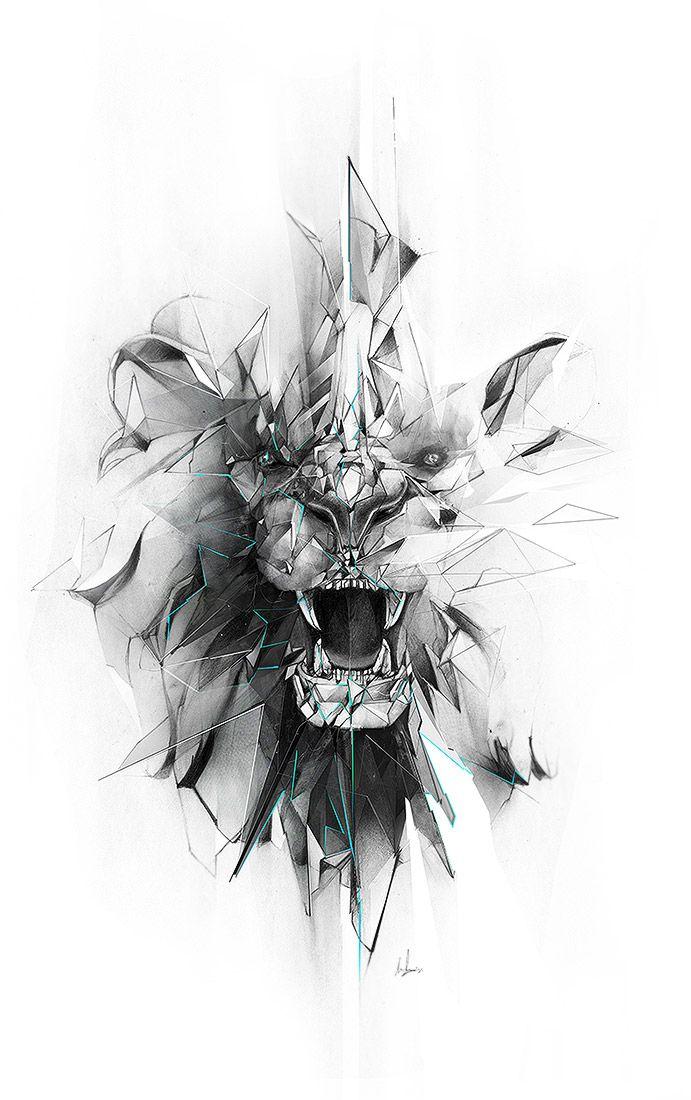 #lion #illustration #design #adobe #wacom #behance #wild #drawing #pencil #graphite #design