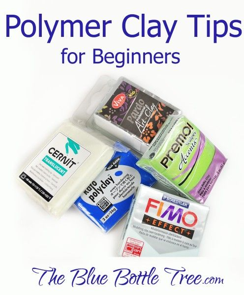 Learn polymer clay tips for beginners and newbies at The Blue Bottle Tree…
