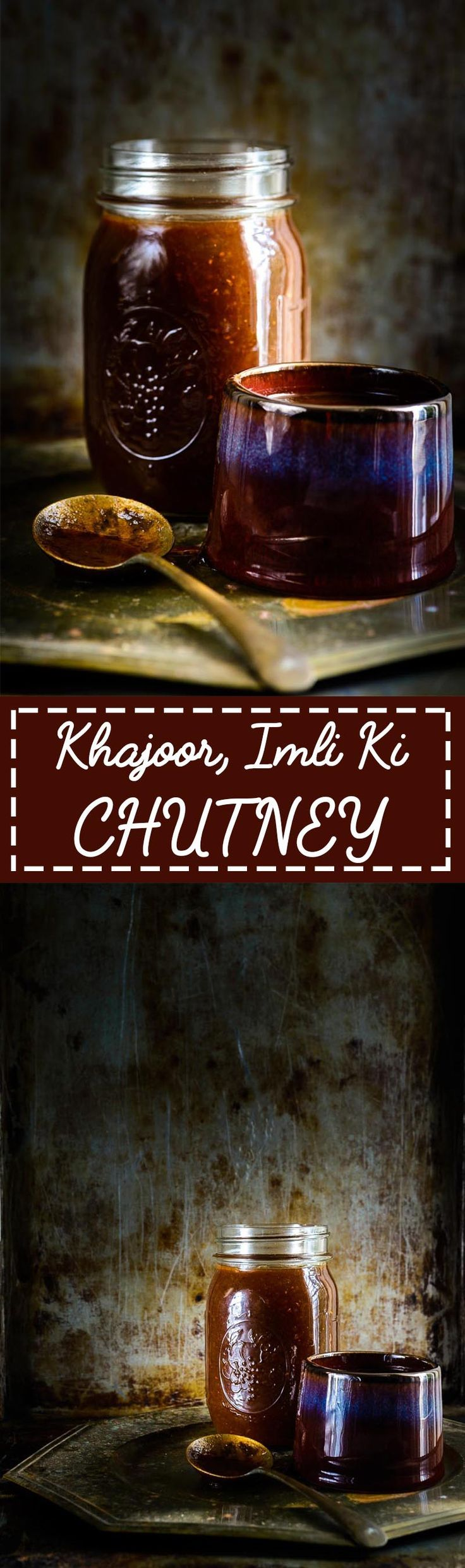 Sweet Tamarind Date Chutney is made using Imli and Khajoor and is easy and quick to make Indian accompaniment which has a sweet and sour tastes with a spicy hint. This Chutney is a must for making Chaat and can be made and kept in refrigerator for up to a month. Indian I Chutney I Accompaniment I Vegan I Recipe I Gluten Free I