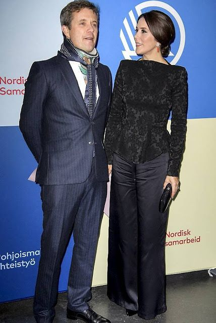 Crown Prince Frederik and Crown Princess Mary attended the Nordic Council awards ceremony at the DR Concert Hall in Copenhagen