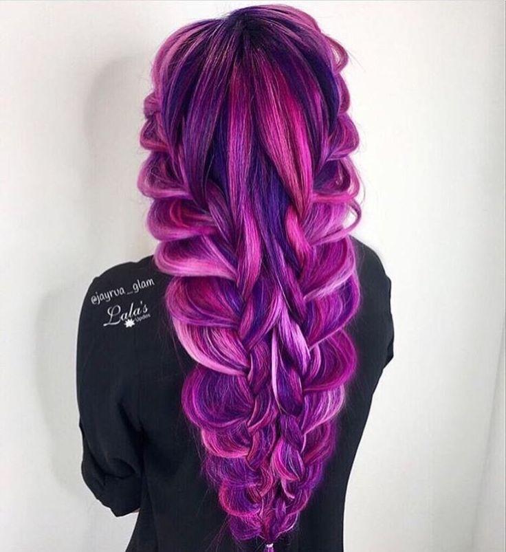 bright, vivid, bold hair colors.