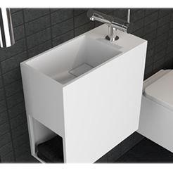 Zeige Details für Waschbecken aus Cristalplant Cosmic Compact