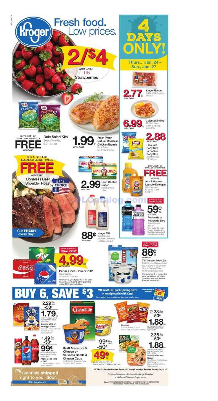 Kroger weekly ad valid mar 25 mar 31 2020 sneak peek