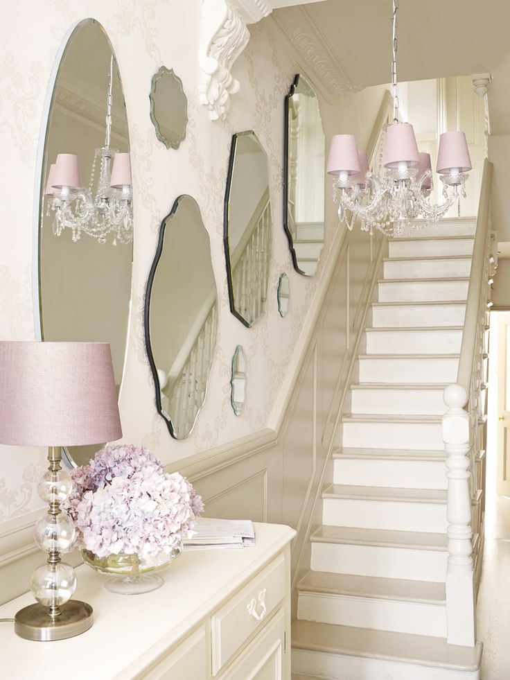 Create a frame feature wall with mirrors.  Laura Ashley Blog | INTERIOR GUIDE: 5 WAYS TO STYLE MIRRORS | http://blog.lauraashley.com