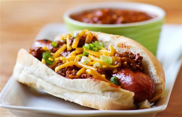 Perfect chili recipes for your NHL/Stanley Cup playoffs party, including: pulled pork chili and bison chili cheese dogs.