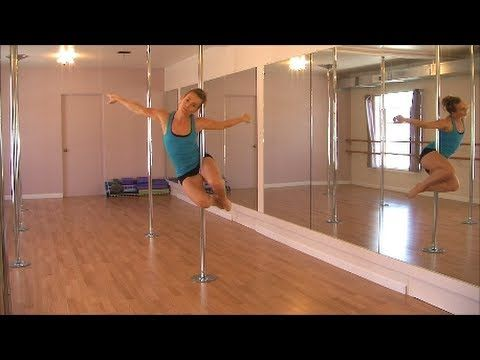 **Pole Dance Routine For Beginners** Britney Spears Gimme More + Pole Dancing CLASS!! - YouTube