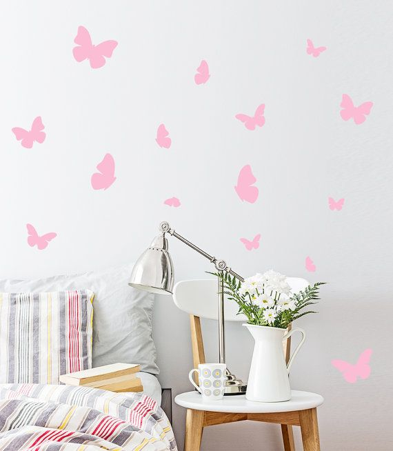 Butterfly Wall Decal / 54 Butterfly Wall by OhongsDesignStudio