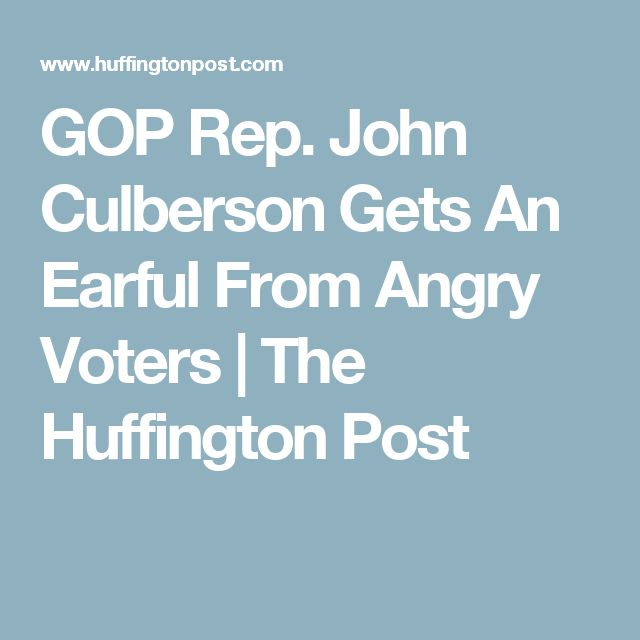 GOP Rep. John Culberson Gets An Earful From Angry Voters | The Huffington Post