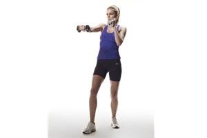 Killer arm move 1: jab-cross   'This one targets your biceps and triceps,' says Ramona. 'The rapid movements will not only lengthen out your muscles, but also strengthen your shoulders and back to improve your posture in the process.'    Stand in a boxing stance - knees slightly bent, feet shoulder-width apart, one slightly behind the other (your left leg in front if you're right handed, right leg in front if you're left handed).   Hold a dumbbell in each hand (3lb to 5lb) and keep your…