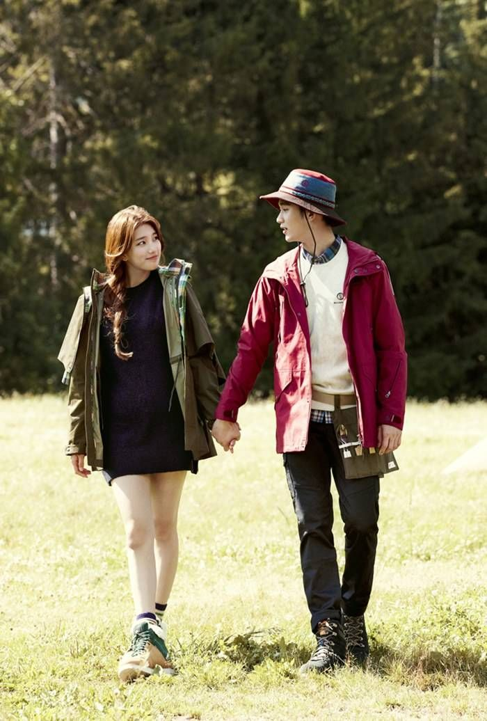 Suzy and Kim Soo Hyun hold hands in the woods for 'Bean Pole' | allkpop
