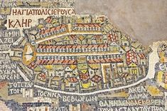 Fragment of the oldest floor mosaic map of the Holy Land