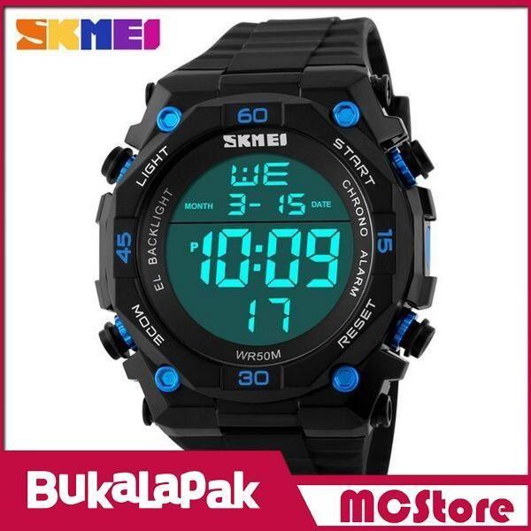 Beli MCStore Jam Tangan Pria SKMEI S-Shock Sport Watch Water Resistant 50m - DG11301 - Black Blue dari MCStore habibwaldani - Jakarta Barat hanya di Bukalapak