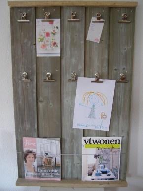 tijdschriftenbord van sloophout #pintratuin #leefjeuit
