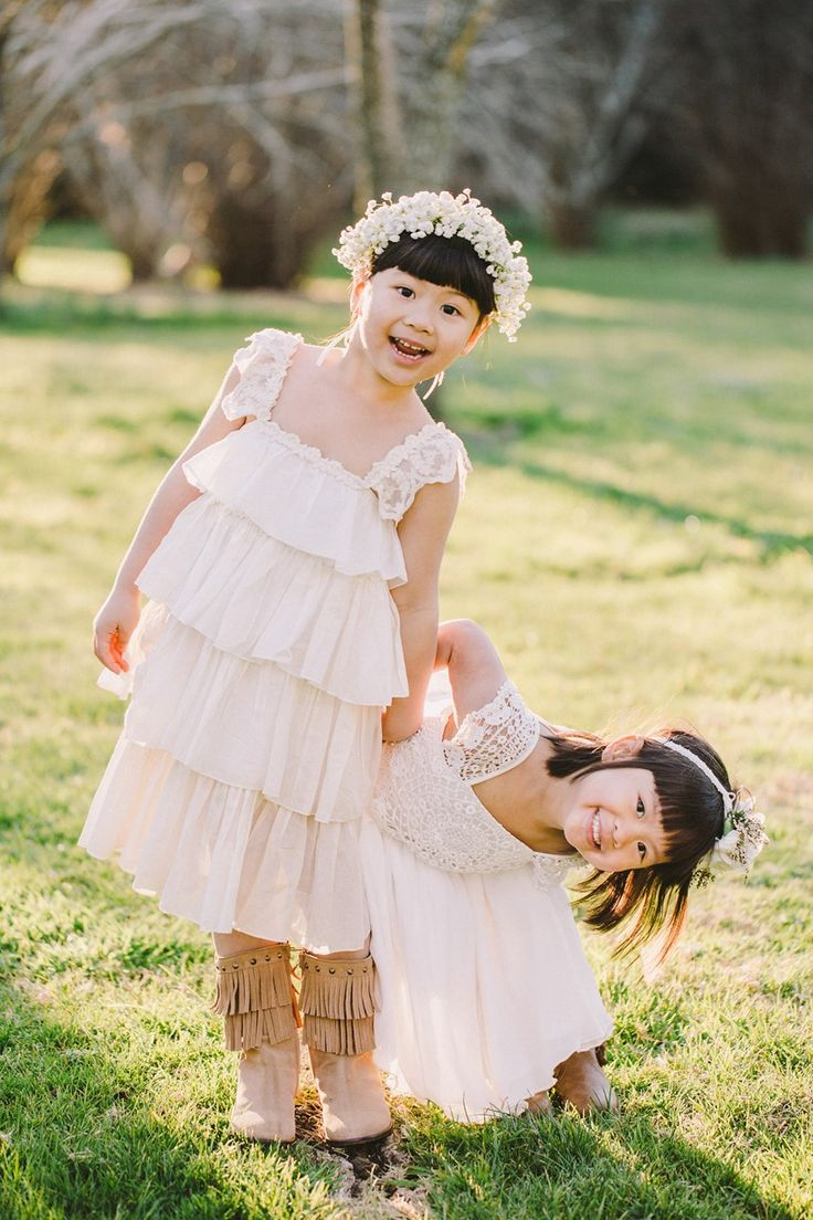 Cute as can be flower girls! Photography by We Are Origami
