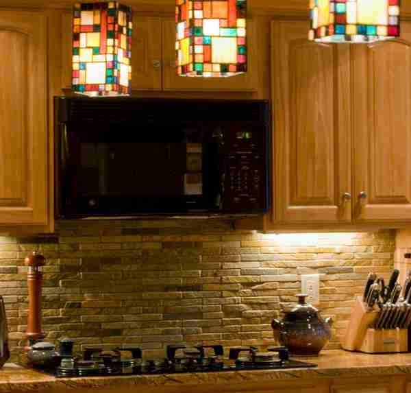 small natural stone tile backsplash for the home pinterest