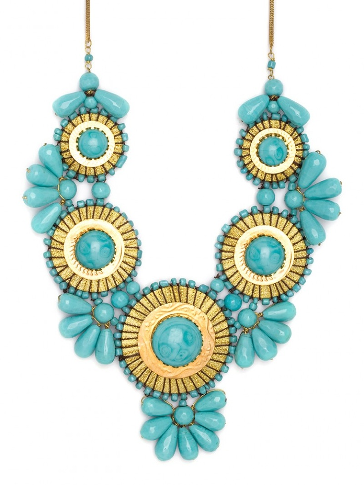 turquoise statement necklace from baublebar