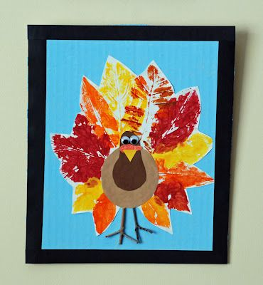 Leaf Print Turkeys