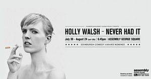 Holly Walsh's 2014 Edinburgh festival poster.